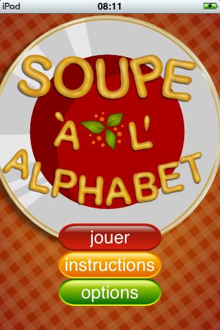 Screenshot Soupe à l'Alphabet (jeu de anagram)